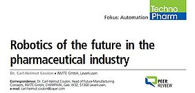 Robotics of the future in the pharmaceutical industry INVITE GmbH